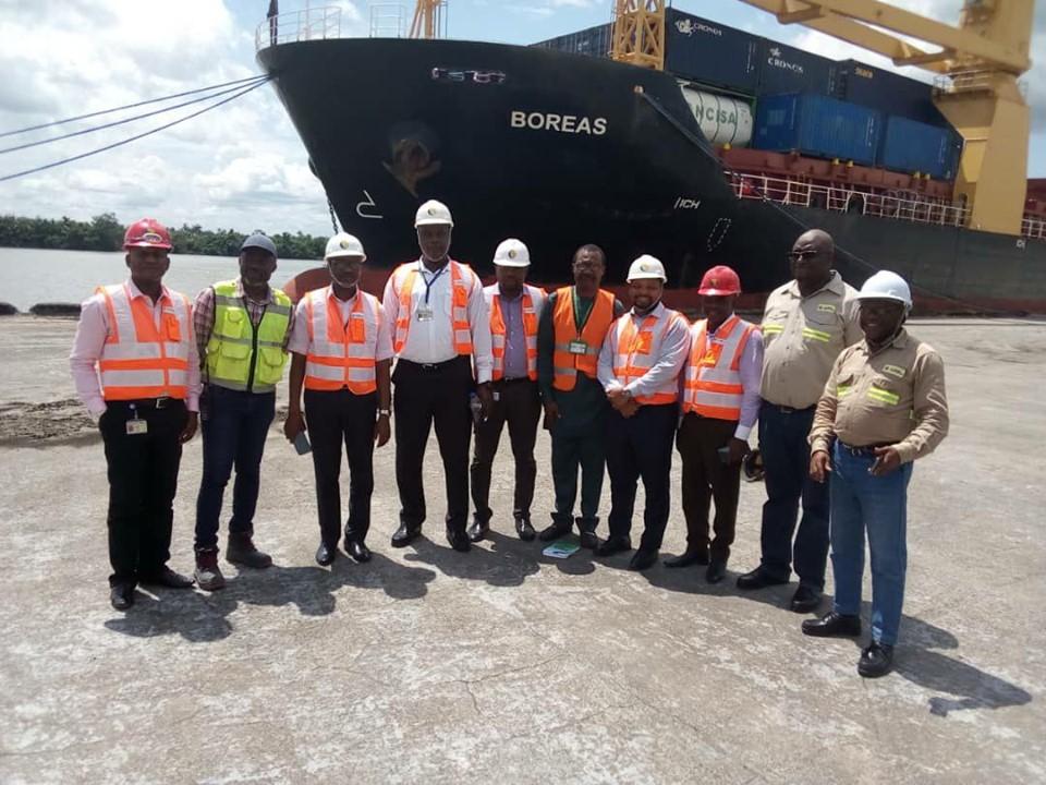 MV Boreas at Calabar Port