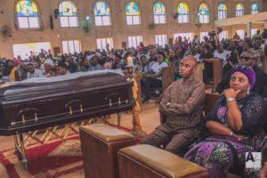 Rotimi Amaechi and wife Dame Judith at Iwelu's funeral