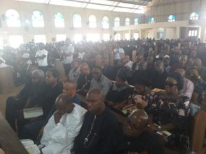 Cross section of Guests at Iwelu's Funeral Service