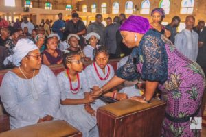 Dame Judith Amaechi commiserating with Iwelu's family