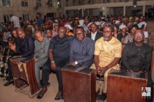 A cross section of guests at Iwelu's burial