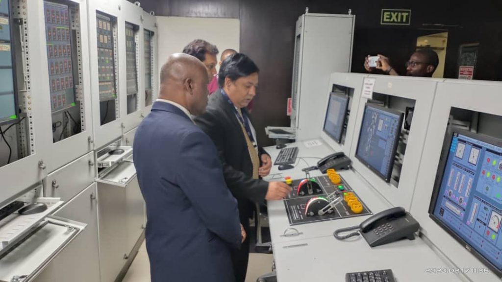 Lecturers from the Maritime Academy of Nigeria (MAN) at India on a simulator handling training in January 2020